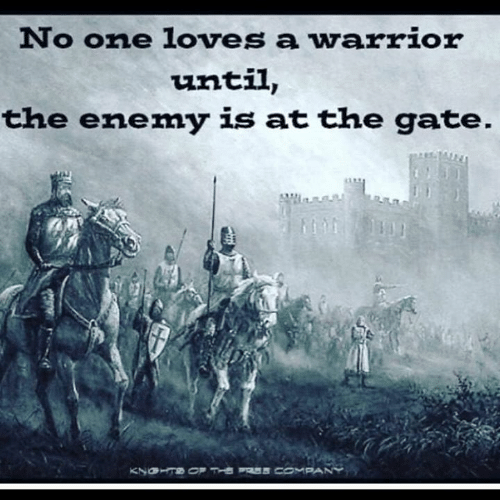 Memes, 🤖, and Gate: No one loves a warrior  until,  the enemy is at the gate