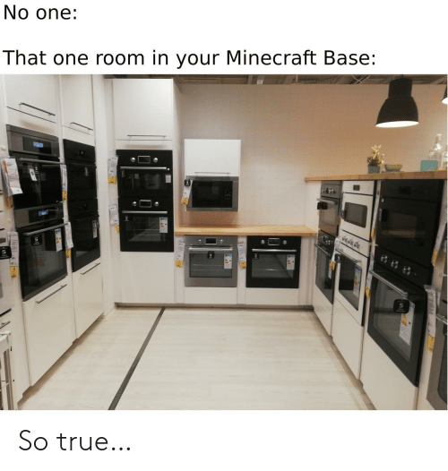 so true: No one:  That one room in your Minecraft Base: So true…