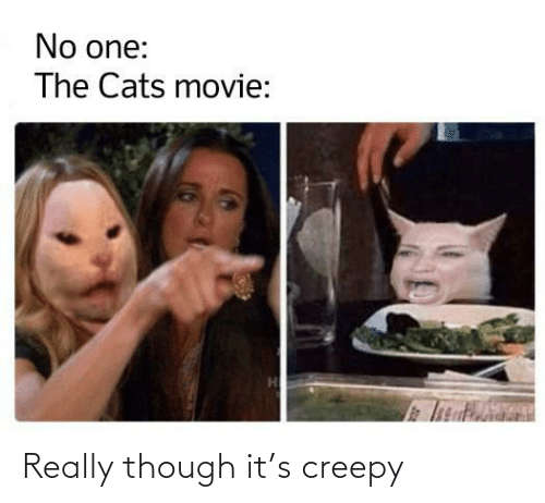 Creepy: No one:  The Cats movie: Really though it's creepy