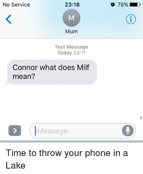 What do you mean by milf