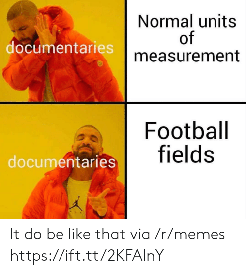 measurement: Normal units  of  measurement  documentaries  Football  entaries fields It do be like that via /r/memes https://ift.tt/2KFAInY
