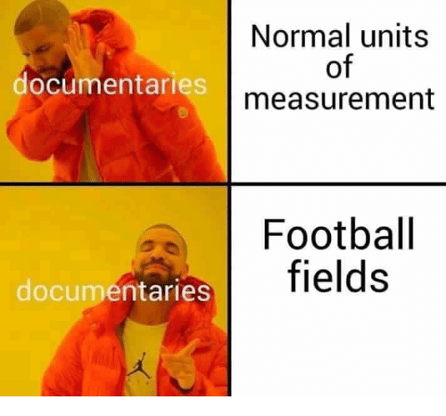 measurement: Normal units  of  measurement  documentaries  Football  fields  documentaries
