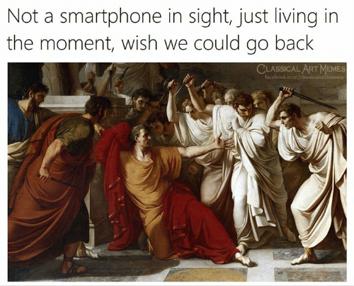 In The Moment: Not a smartphone in sight, just living in  the moment, wish we could go back  CLASSICAL ART MEMES  facebook.com/classicalart