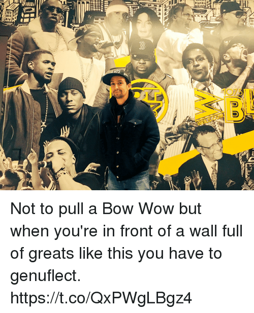 Bow Wow: Not to pull a Bow Wow but when you're in front of a wall full of greats like this you have to genuflect. https://t.co/QxPWgLBgz4