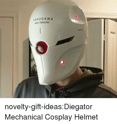 Tumblr, Blog, and Cosplay: novelty-gift-ideas:Diegator Mechanical Cosplay Helmet