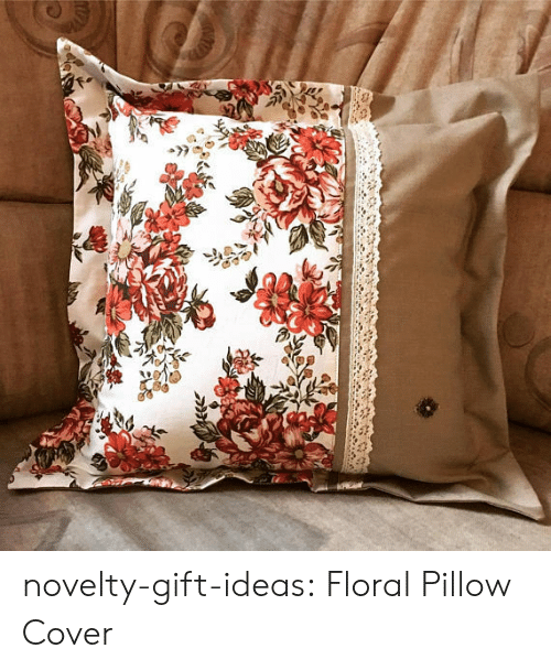 Tumblr, Blog, and Etsy: novelty-gift-ideas:  Floral Pillow Cover