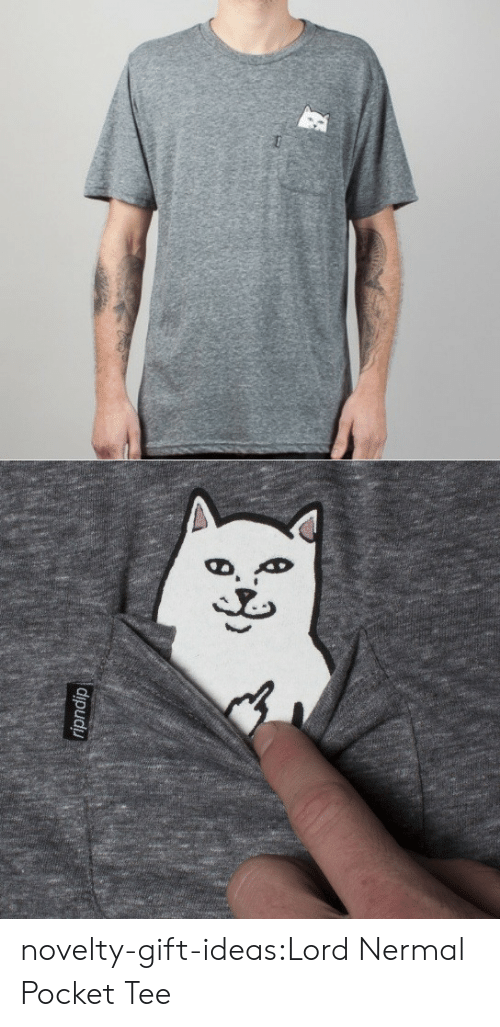Tumblr, Blog, and Com: novelty-gift-ideas:Lord Nermal Pocket Tee