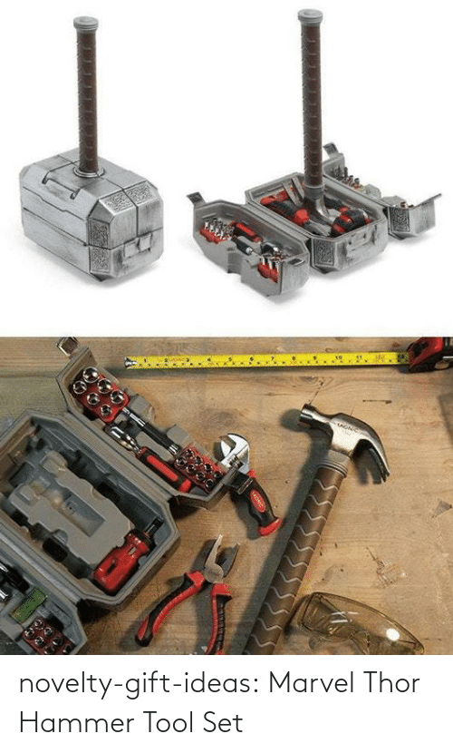 hammer: novelty-gift-ideas:  Marvel Thor Hammer Tool Set