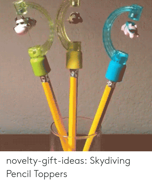 skydiving: novelty-gift-ideas:    Skydiving Pencil Toppers