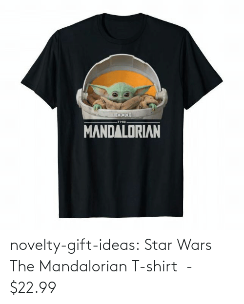 wars: novelty-gift-ideas:  Star Wars The Mandalorian T-shirt  -   $22.99