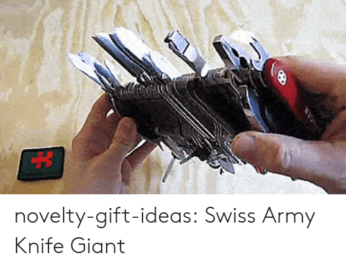 Tumblr, Army, and Blog: novelty-gift-ideas:  Swiss Army Knife Giant