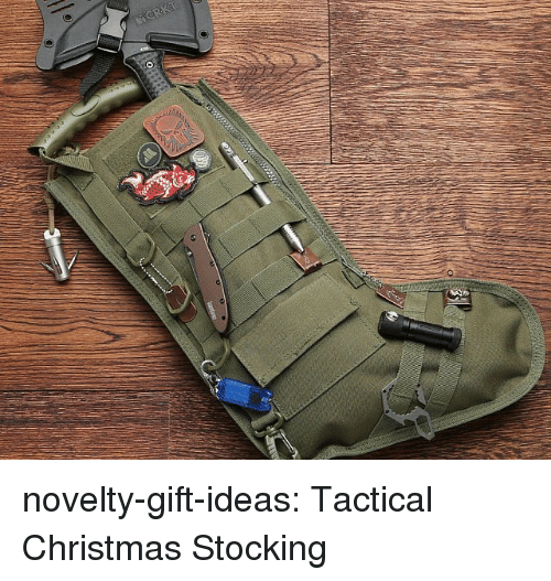 Christmas, Tumblr, and Blog: novelty-gift-ideas:  Tactical Christmas Stocking