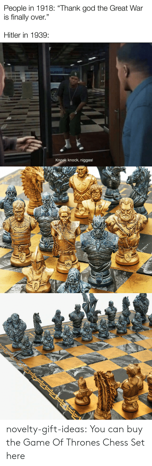thrones: novelty-gift-ideas:  You can buy the   Game Of Thrones Chess Set here