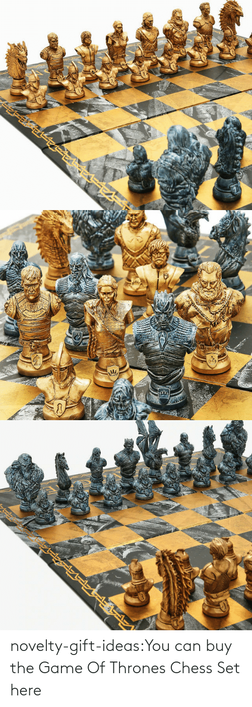 tumblr: novelty-gift-ideas:You can buy the   Game Of Thrones Chess Set here
