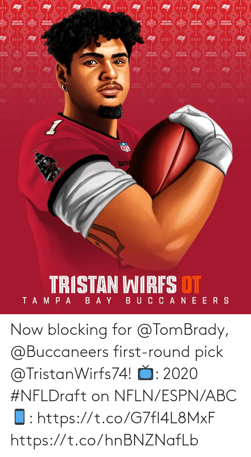 Blocking: Now blocking for @TomBrady, @Buccaneers first-round pick @TristanWirfs74!  📺: 2020 #NFLDraft on NFLN/ESPN/ABC 📱: https://t.co/G7fI4L8MxF https://t.co/hnBNZNafLb