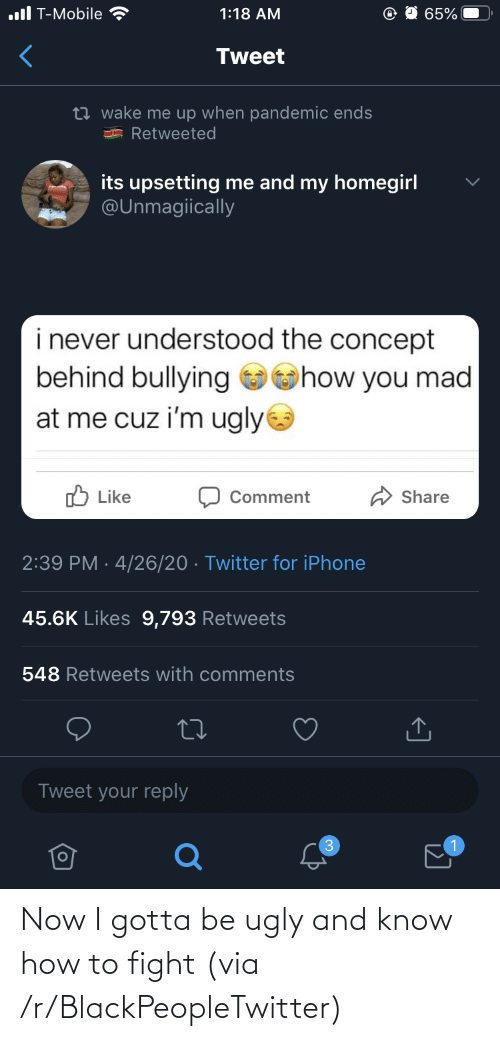 Know How: Now I gotta be ugly and know how to fight (via /r/BlackPeopleTwitter)