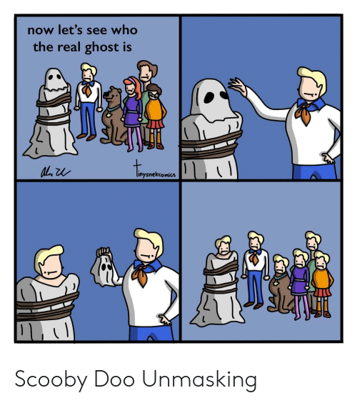 scooby: now let's see who  the real ghost is  linysnekcomics  Car Scooby Doo Unmasking