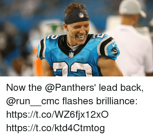 cmc: Now the @Panthers' lead back, @run__cmc flashes brilliance: https://t.co/WZ6fjx12xO https://t.co/ktd4Ctmtog