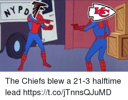 Football, Nfl, and Sports: NY P The Chiefs blew a 21-3 halftime lead https://t.co/jTnnsQJuMD