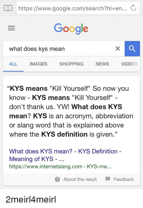 What does kys stand for in texting