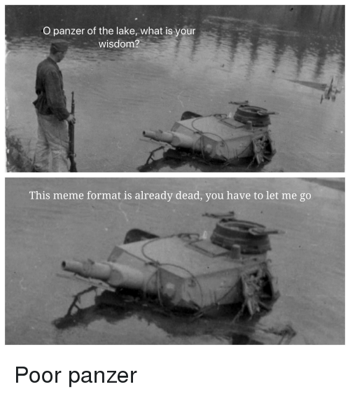O Panzer Of The Lake What Is Your Wisdom This Meme Format Is