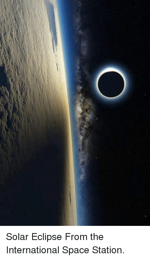 Memes, Eclipse, and 🤖: O Solar Eclipse From the International Space Station.
