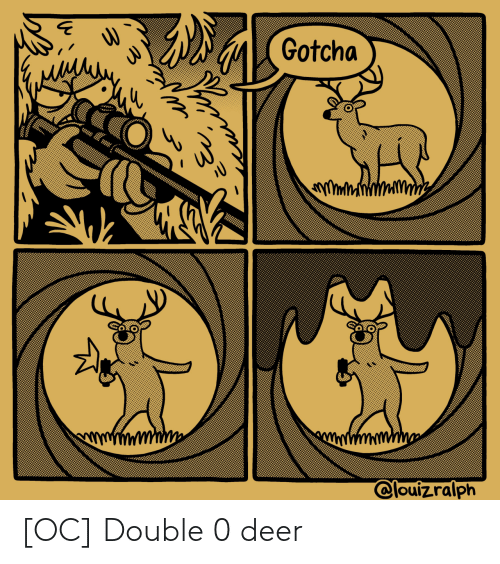 Deer: [OC] Double 0 deer