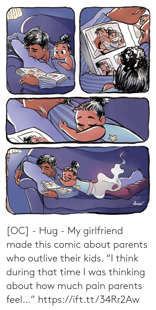 "Pain: [OC] - Hug - My girlfriend made this comic about parents who outlive their kids. ""I think during that time I was thinking about how much pain parents feel…"" https://ift.tt/34Rr2Aw"