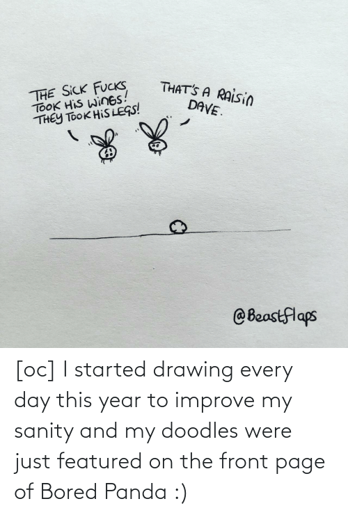 Bored Panda: [oc] I started drawing every day this year to improve my sanity and my doodles were just featured on the front page of Bored Panda :)