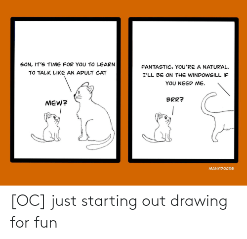 starting: [OC] just starting out drawing for fun