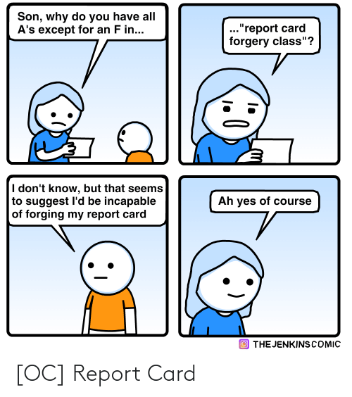 card: [OC] Report Card