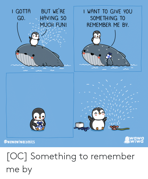 remember: [OC] Something to remember me by