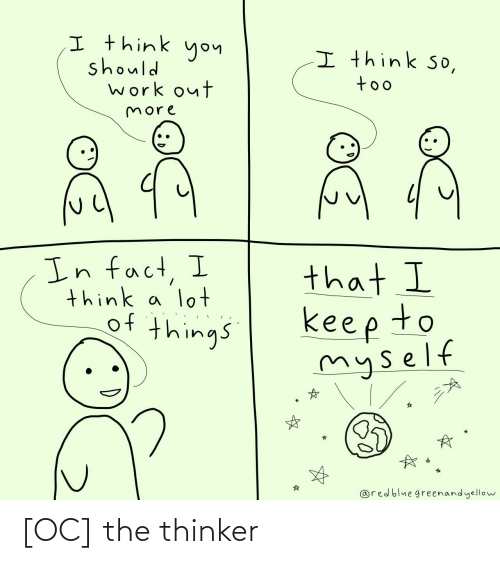 The: [OC] the thinker