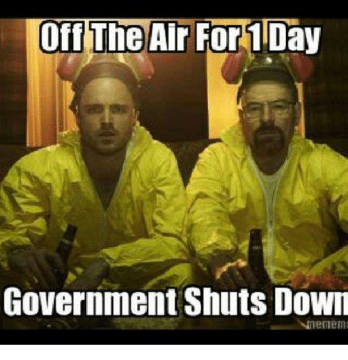 off the air: Off The Air For10  Government Shuts Down