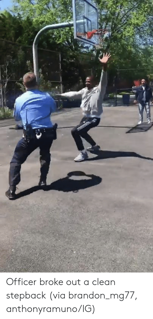 Via, Officer, and Clean: Officer broke out a clean stepback  (via brandon_mg77, anthonyramuno/IG)