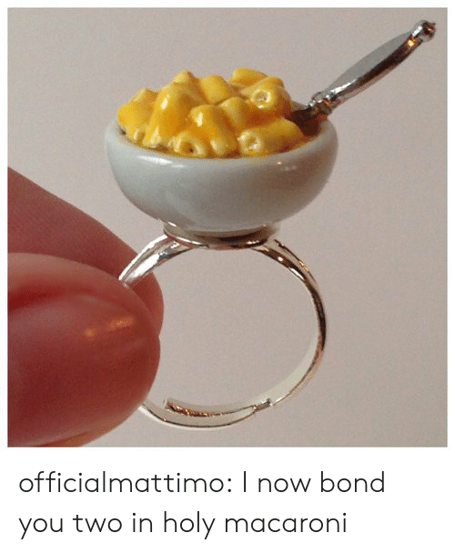 Target, Tumblr, and Blog: officialmattimo:  I now bond you two in holy macaroni