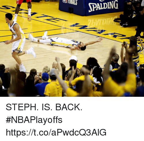 Memes, Back, and 🤖: OFFS STEPH. IS. BACK. #NBAPlayoffs https://t.co/aPwdcQ3AlG