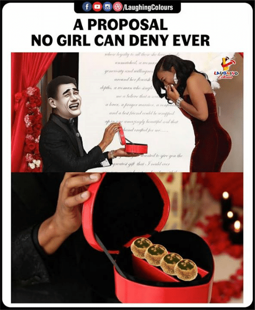 Girl, Indianpeoplefacebook, and Can: $ogeLaughingColours  A PROPOSAL  NO GIRL CAN DENY EVER  LAUGHING