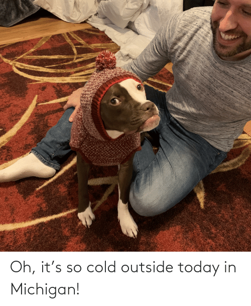 Michigan, Today, and Cold: Oh, it's so cold outside today in Michigan!