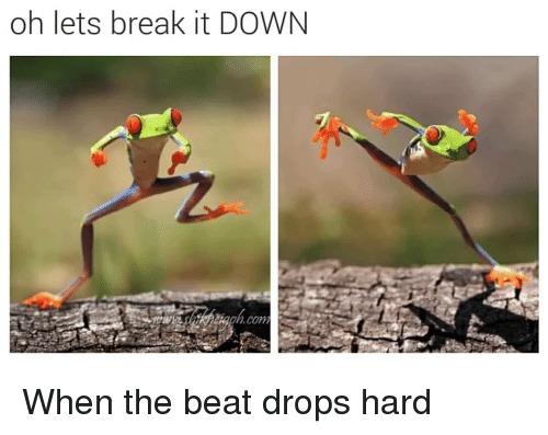 Funny, Beats, and Break: oh lets break it DOWN When the beat drops hard