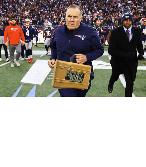super: OH MY! Bill Belichick is cashing in his MITB Briefcase! The Super Bowl is now a triple threat! https://t.co/4UZRCwWTjL