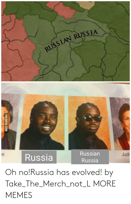 merch: Oh no!Russia has evolved! by Take_The_Merch_not_L MORE MEMES