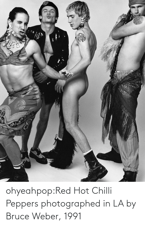 red: ohyeahpop:Red Hot Chilli Peppers photographed in LA by Bruce Weber, 1991