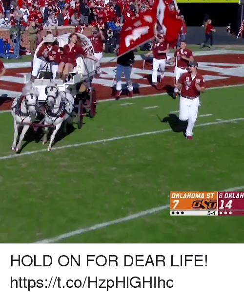 Football, Life, and Nfl: OKLAHOMA ST 6 OKLAH  7 OS14  0  5-4 HOLD ON FOR DEAR LIFE! https://t.co/HzpHlGHIhc