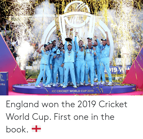 cricket world cup: OLAND  ENE  ND  ENT  ENGLAN  ENGLAND  AND  AB  B  WC19 api  2019  INAL  FINAL  ICC CRICKET WORLD CUP 2019 England won the 2019 Cricket World Cup. First one in the book. 🏴