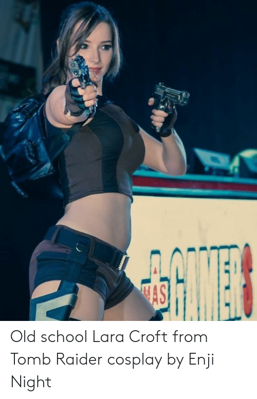 Old School Lara Croft From Tomb Raider Cosplay By Enji Night