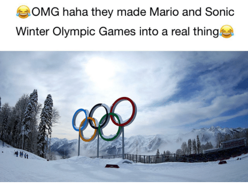 Omg, Winter, and Mario: OMG haha they made Mario and Sonic  Winter Olympic Games into a real thing