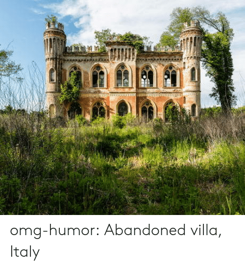 Omg, Tumblr, and Blog: omg-humor:  Abandoned villa, Italy