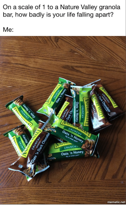 On A Scale Of 1 To A Nature Valley Granola Bar How Badly Is Your