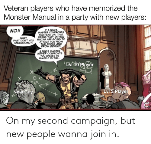 new: On my second campaign, but new people wanna join in.